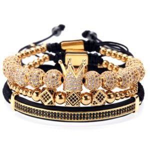 Crown and Beads Bracelets