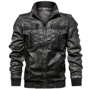 Men PU Jacket Fitness Leather