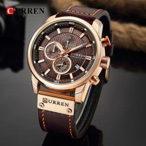 Curren Brand Men's Watch with Chronograph Sport