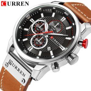 Curren Brand Men's Watch with Chronograph Sport