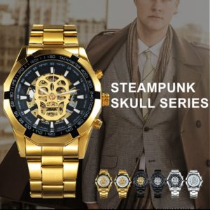 Golden Skeleton Mechanical & Luxury Men's Watches
