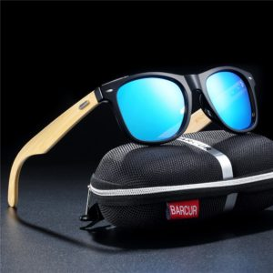 BARCUR Polarized Bamboo Sunglasses Men n Women
