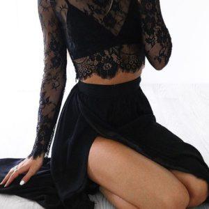 Beautiful Looking 2 Piece Black Dress