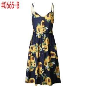 Summer Women Floral Dress