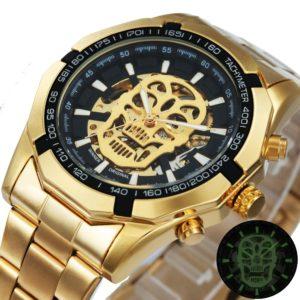Golden Skeleton Mechanical & Luxury Men's Watches