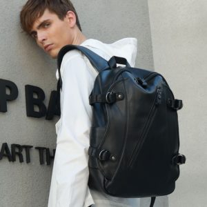 Men Backpack with USB Head Phone Jack