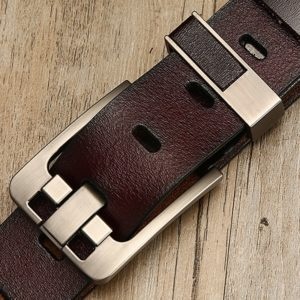 Stylish Leather Belt for Men with Pin Buckle