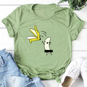 Women's Funny Banana Printed T-Shirt
